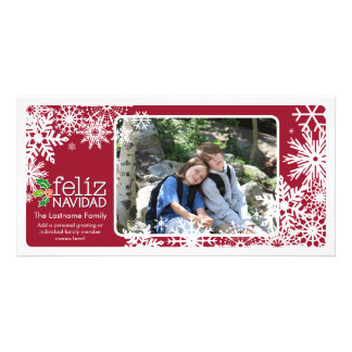 Merry Christmas - 1 photo Photo Greeting Card