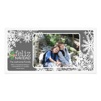 Merry Christmas - 1 photo Customized Photo Card