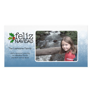 Merry Christmas - 1 photo Personalized Photo Card