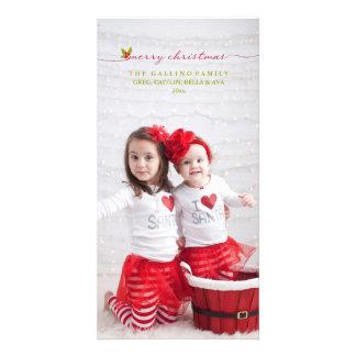 Merry Christmas 2014 Holiday Photo Greeting Custom Photo Card