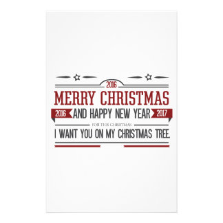 Merry Christmas 2016 Stationery