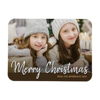 Merry Christmas 2017 Family Photo Holiday Magnet