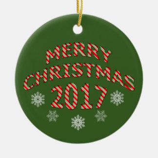 Merry Christmas 2017 Tree Trim Ornament