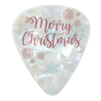 Merry Christmas 2 Pearl Celluloid Guitar Pick