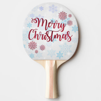 Merry Christmas 2 Ping Pong Paddle