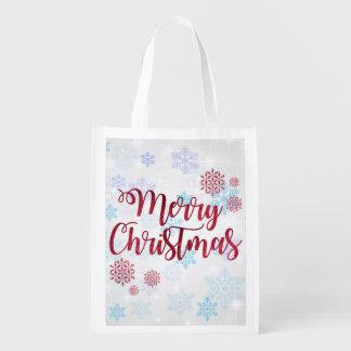 Merry Christmas 2 Reusable Grocery Bag