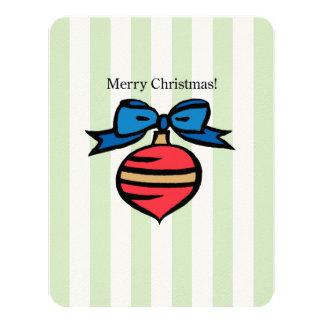 Merry Christmas 4.25 x 5.5 Felt White Invite Green