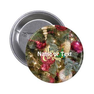 merry christmas 5152 6 cm round badge