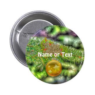 merry christmas 515 6 cm round badge