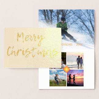 Merry Christmas 5 Photo Collage Template