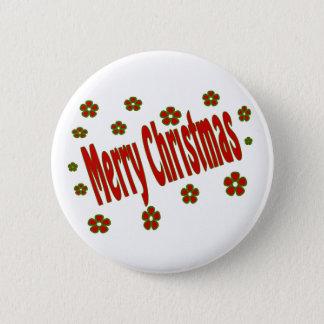 Merry Christmas 6 Cm Round Badge