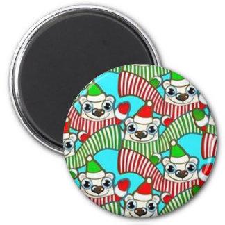 Merry Christmas - 6 Cm Round Magnet
