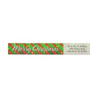 Merry Christmas 88 Wraparound Address Label