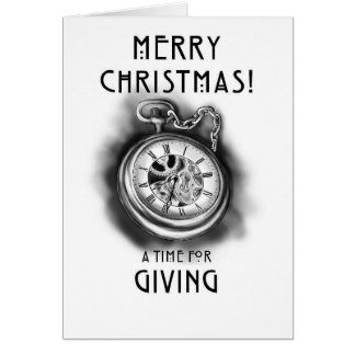 Merry Christmas! - A Time For Giving Card