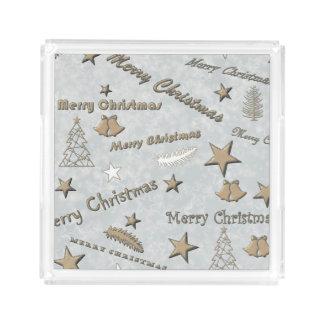 Merry Christmas Acrylic Tray