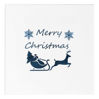 Merry Christmas Acrylic Wall Art