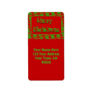 Merry Christmas Address Label