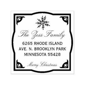 Merry Christmas Address Stamp