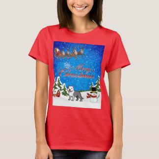 Merry Christmas American Staffordshire Terrier T-Shirt