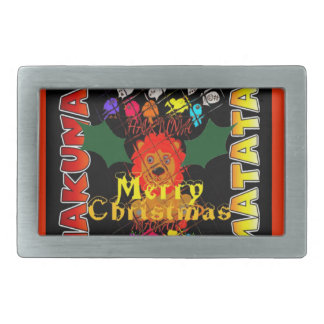 Merry Christmas and a Happy New Year Belt Buckles