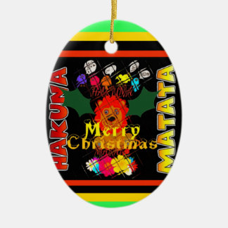 Merry Christmas and a Happy New Year Ceramic Oval Decoration