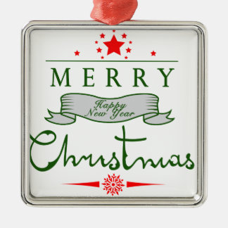 Merry Christmas and a Happy New Year Christmas Tree Ornament