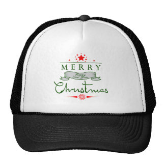 Merry Christmas and a Happy New Year Trucker Hats