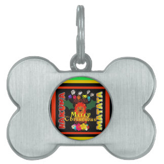 Merry Christmas and a Happy New Year Pet Name Tag
