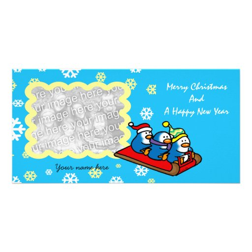 Merry Christmas And A Happy New Year Photo Cards
