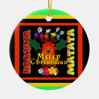 Merry Christmas and a Happy New Year Round Ceramic Decoration