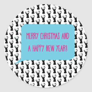 MERRY CHRISTMAS AND A HAPPY NEW YEAR! ROUND STICKER
