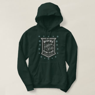 Merry Christmas and a Happy New Year Typography Hoodie