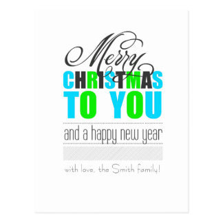 Merry Christmas and happy new to year Postcard