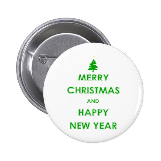 Merry Christmas and Happy New Year Pins