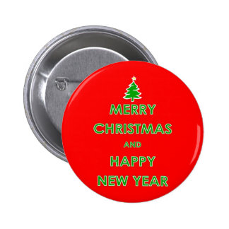 Merry Christmas and Happy New Year Button