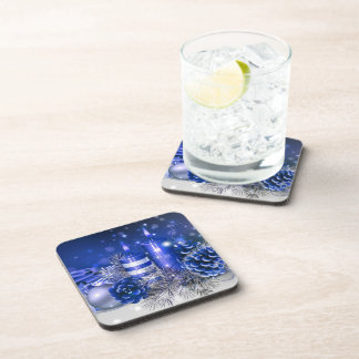 merry christmas and happy new year drink coaster