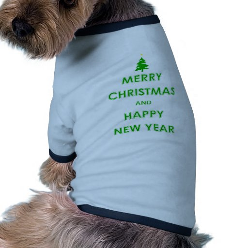 Merry Christmas and Happy New Year Pet Clothes