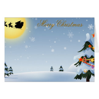 Merry Christmas and Happy New Year Greeting Card