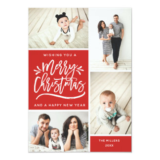 Merry Christmas and Happy New Year Multi Photo Card