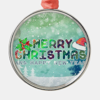 Merry Christmas and Happy New Year Ornament