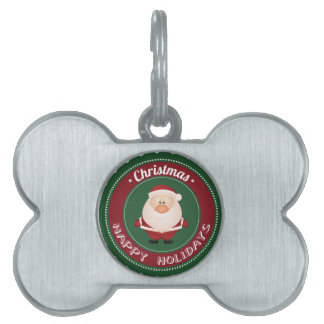 merry christmas and happy new year pet tag