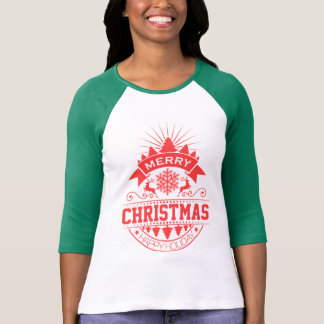 Merry Christmas and Happy New Year Pine Reindeer T-Shirt