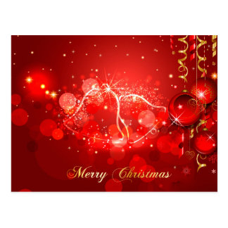 merry christmas and happy new year postcard