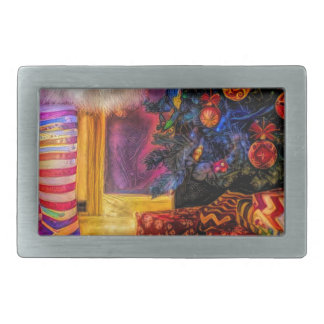Merry Christmas and Happy new year Rectangular Belt Buckles