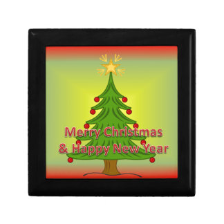 Merry Christmas and happy new year Small Square Gift Box