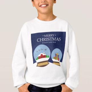 Merry Christmas and Happy New Year Snow Globe Sweatshirt