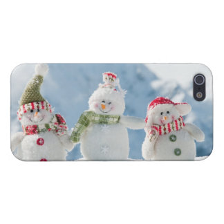 Merry Christmas and Happy New year snowmen iPhone 5/5S Cases