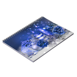 merry christmas and happy new year spiral note books
