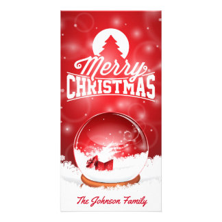 Merry Christmas and Happy New Year typography Photo Cards