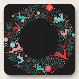 merry christmas and happy newyear beverage coasters